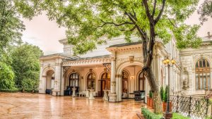 Palatul Bragadiru - terasa