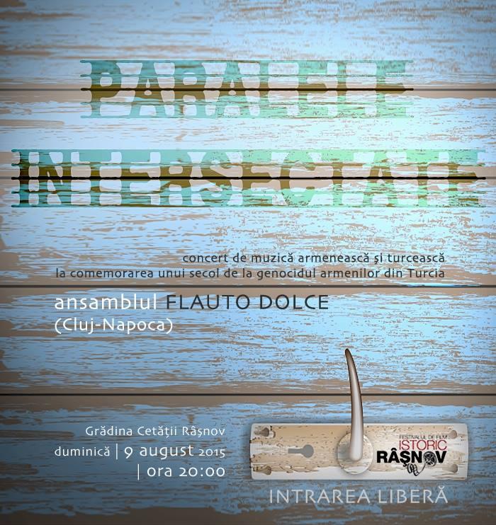 Afisul concertului ansamblului Flauto Dolce