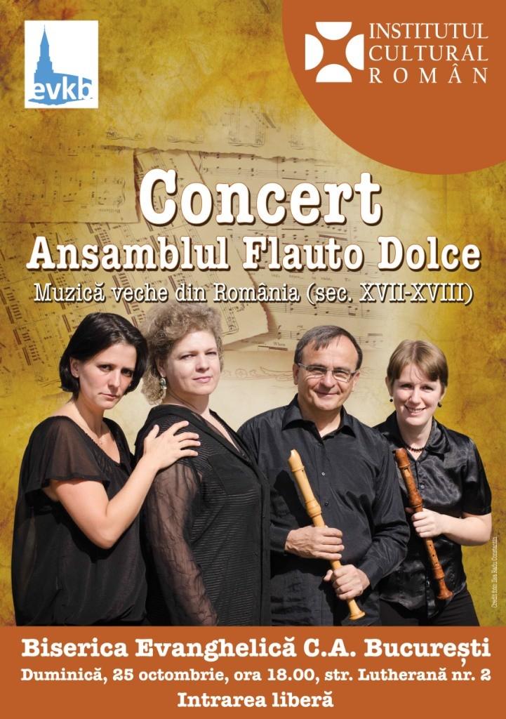 Concert de muzica veche cu Flauto Dolce la Biserica Lutherena