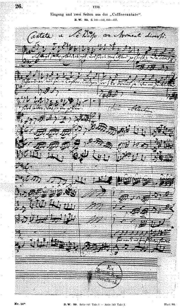 Partitura Cantata cafelei - Hermann Kretzschmar