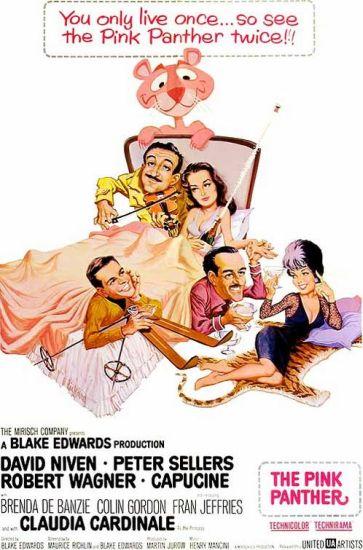 posterul filmului The Pink Panther 1963