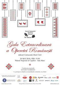 Afis Gala Operetei Romanesti