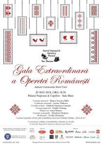Afis - Gala Extraordinara a Operetei Romanesti