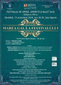 Afis Marea Gala - 65 ani Opera Brasov