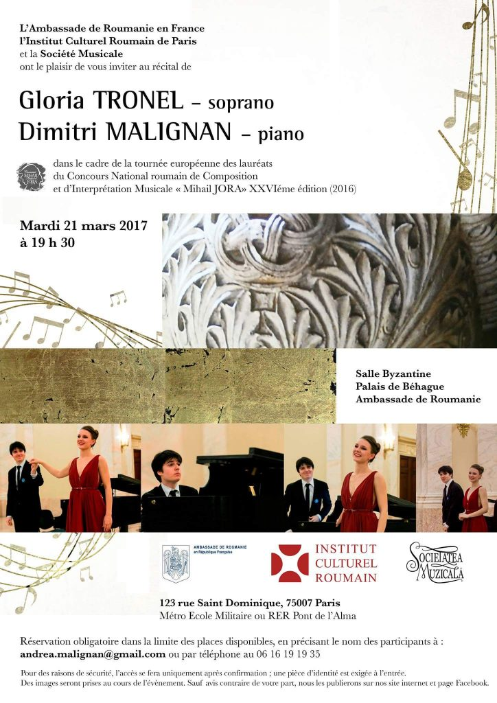 Turneul Laureatilor Mihail Jora la Paris
