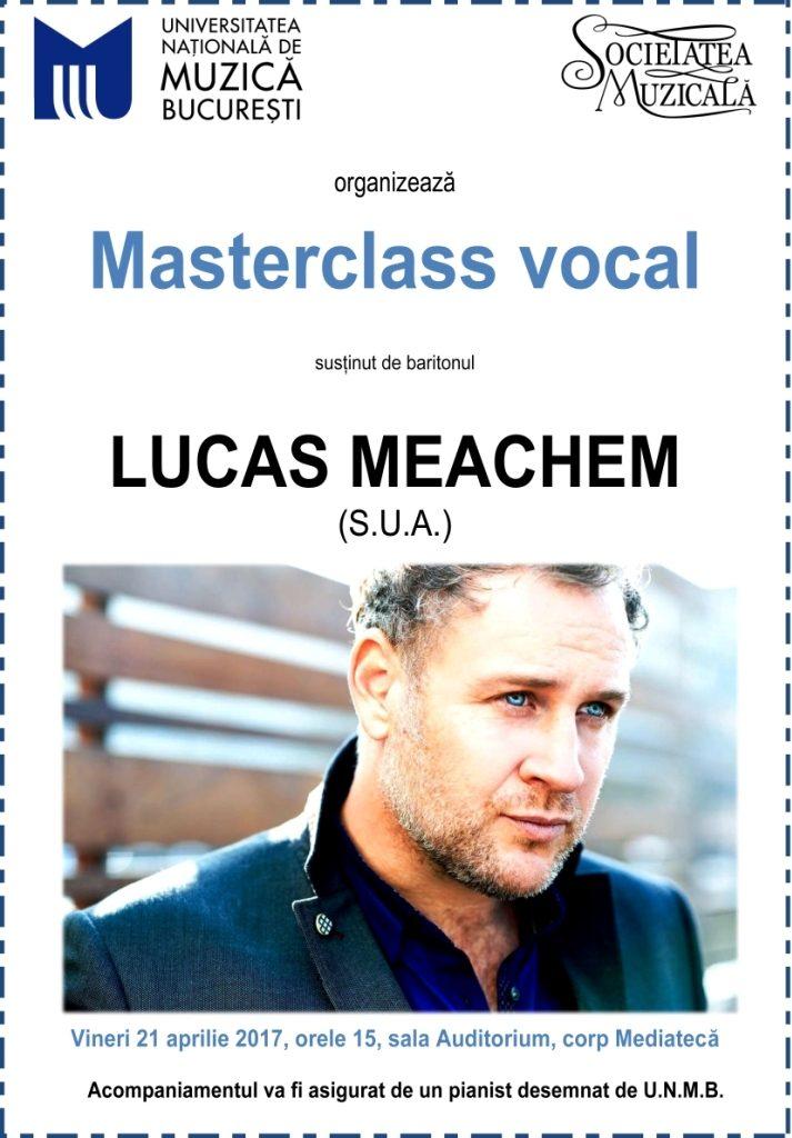 Masterclass Lucas Meachem la Conservator