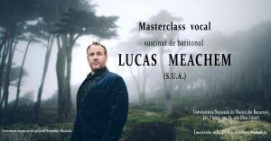 Afis Masterclass cu Lucas Meachem la UNMB