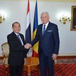 ES Ambasadorul Regatului Thailandei in Romania, dl. Sarayoot Kalayanamit impreuna cu Teodor Melescanu, Minstrul Afacerilor Externe ©mae.ro