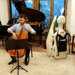 Cornelius Zirbo plays Cello concerto by Haydn at Swiss Residence